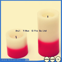 Layering red and white two colours battery operated led scented candle
