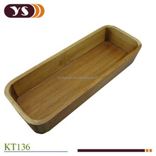 acacia wood solid basket