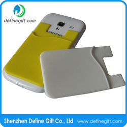 Promotional Gift 3M Adhesive Silicone Pouch Smart Phone Wallet