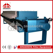SF plate and frame oil filter press machine for sludge dewatering filter press machine