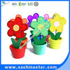 Promotional gift flower memo clips wooden material