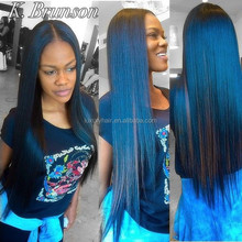 Top Beauty Top Fashion 22 Inch Straight Blue Human Hair Full Lace Wig