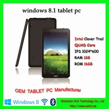 Best quality Intel atom 7 inch screen tablet with windows8 mini tablet for office