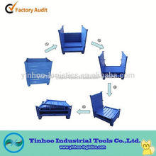 folding large steel material container for shipping alibaba China