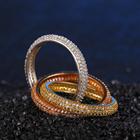 Valor 925 anel de prata da forma da jóia clássica de três anéis