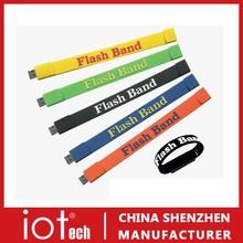 Wristband/Bracelrt USB Memory Flash Drive 8GB With Logo