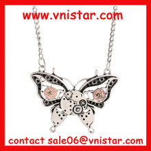 Vnistar steam punk papillon collier steampunk bijoux à vendre