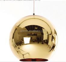 Modern tom dixon mirror glass ball pendant lights copper lamp for restaurant
