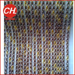 Fashion metal door chain curtain for fly screen,metal door chain