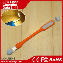 Promotion Gift Fast USB Cable Stick With Comfortable LED LamLED p Cable As Reading Light Purest TPE Material