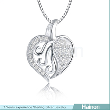 2015 new europe necklace pendant charms fashion 925 silver pendant