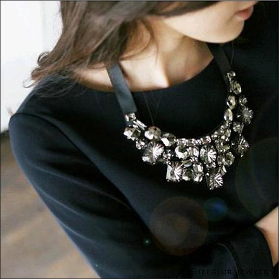 Черные ожерелья своими руками
