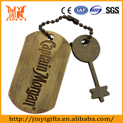 metal engraved dog tags promotion gift manufactured in china