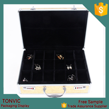 Silver Aluminum with Gold Top and Coded Lock Jewelry Case