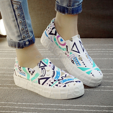 New style casual paintable thick sole canvas shoe