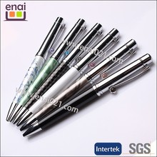 metal stylish promoting jewel ballpoint pen with diamond on cllip for high class decoration