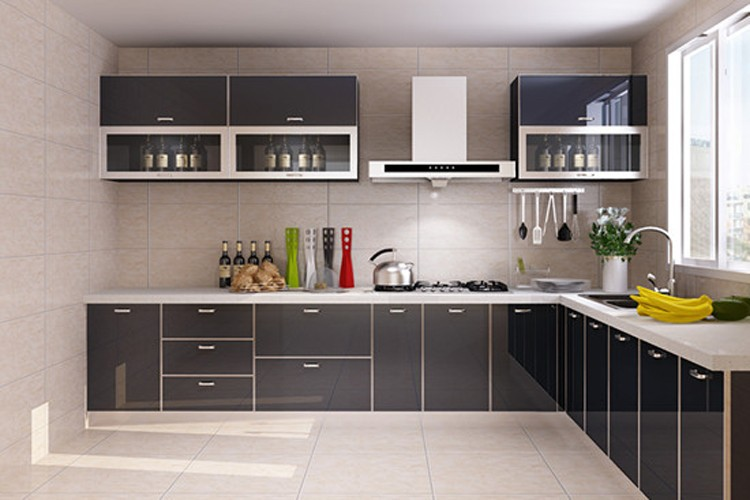 High glossy black kitchen cabinets for sale buy kitchen - Glossy black kitchen cabinets ...