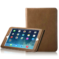fashion genuine leather case for ipad made in china