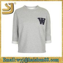 fashion o neck t-shirt,long sleeve o neck cotton spandex t shirt base shirts