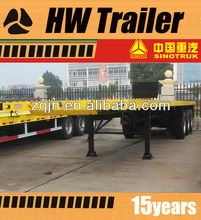 28Ton 3 Axles container chasis Truck and Trailer dimensions