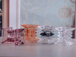 Hot Sale crystal candle holder,decorative glass candle holder,crystal candle holders wedding table decorations