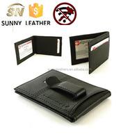 card holder multiple wallet For Men - Black Leather, Credit-Business Card