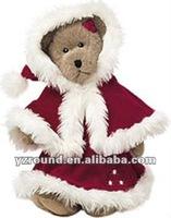 2012 Christmas Teddy Bear Mrs Santa Teddy Bear