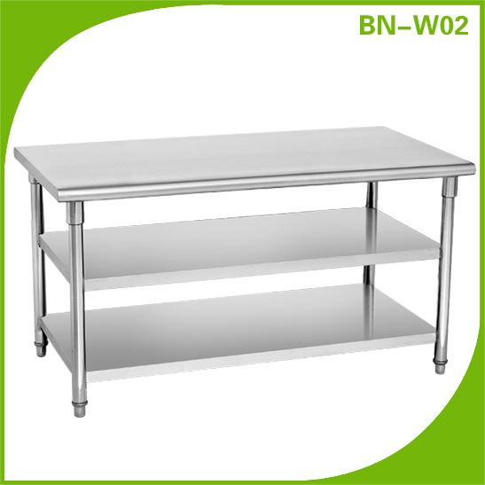 De acero inoxidable mesa de trabajo proveedor de alimentos - Mesa de trabajo cocina ...