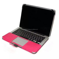 new arrival stand flip leather case for Macbook Air