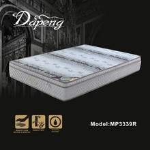 2015 Bamboo fabric cover deluxe memory foam euro top elegant pocket spring mattress