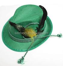 new design feather oktoberfest fedora st patrick hat wide brim BHAT-1775