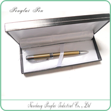 2015 Promotion metal 1.0mm ballpoint pen with matching logo laser engraveable