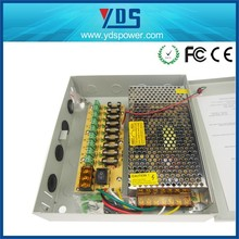 Hot Sale AC/DC Power Supply CE ROHS approved Single Output 18 channel constant voltage 250w 20a 12v cctv power supply box