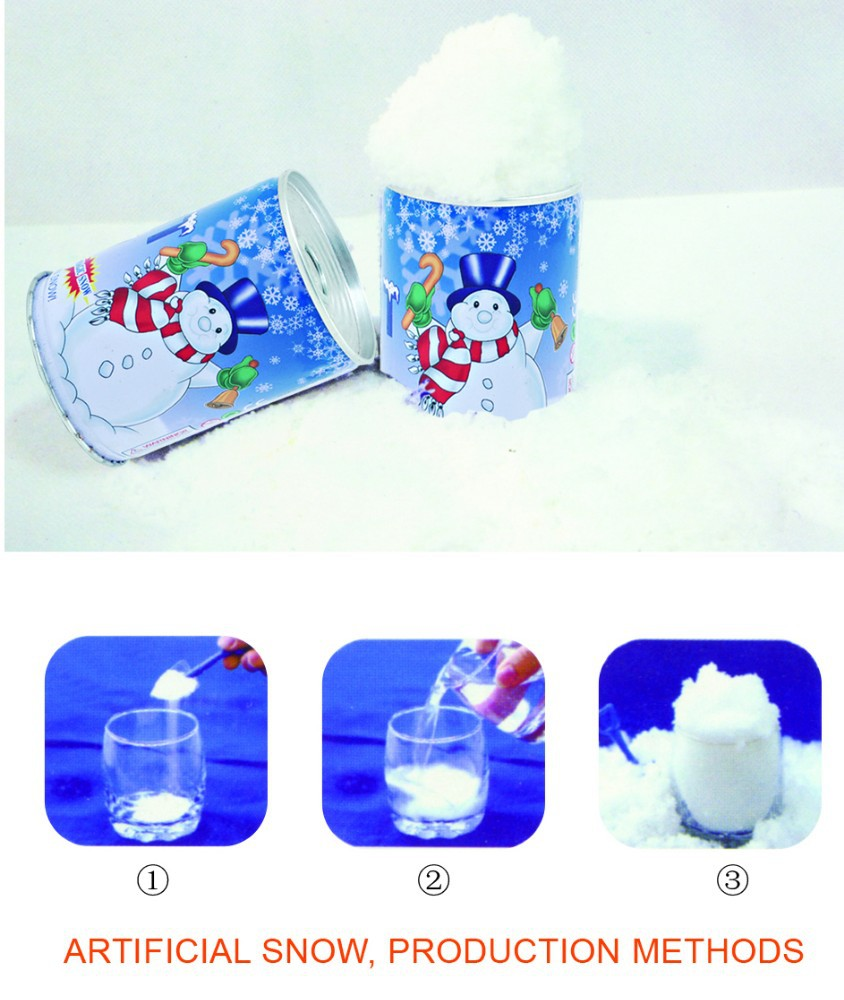 Let it snow artificial snow for christmas decoration buy for Artificial snow decoration