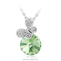 2015 high fashion accessories,round stone pendant necklace