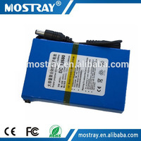 DC 12V 6800mAh rechargeable lithium polymer battery 12v battery box for cctv camera/lighting system