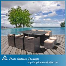 rattan cube garden set,rattan dinner set,outdoor wicker patio cube set