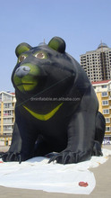 customized new style black giant inflatable bear for sale