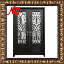 Hand forge wrought iron decoration entrance doors