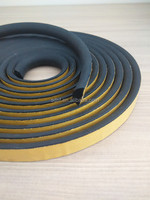 EPDM extrusion foam rubber seal strip with adhesive tape