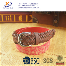 Women's Braided Knitted Elastic Stretch Belt With Alloy Pin Buckle