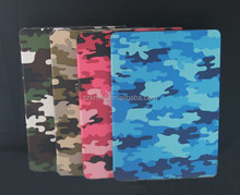2015 hot sale colorful Camouflage leahter case for ipad air /ipad air 2
