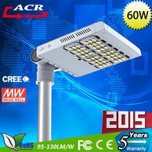 CE RoHS 60w led street lighting/LED outdoor lightng IP65 3 years warranty