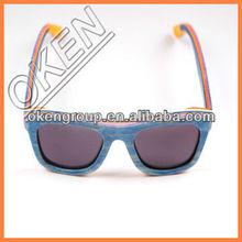 2015 New OKEN S3008 nature polarized bamboo sunglasses skateboard