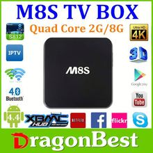 dM8S Quad Core Smart TV Box - Android 4.4, 4K Video Playback, 2GB RAM, 8GB Flash, 2.4G/5.8G WIFI, Support HEVC
