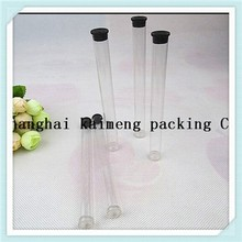 Round eco-friendly cheap clear plastic tube packaging for hair extension