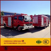 Fire-crash water tender /fire truck for sale optional chassis and cab style
