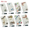 Luxury crystal diamond leather case for Huawei P8 Lite,handmade leather bling case for Huawei P8 Lite