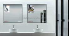 2015 China New design Frameless magic mirror light box/ poster frame/ LED mirror light box