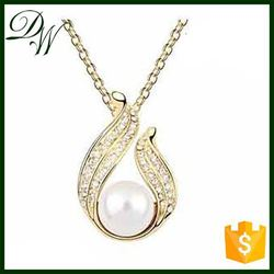 artificial crystal necklaces with cz stainless steel link chain necklace, new product woman necklace jewelry accessory